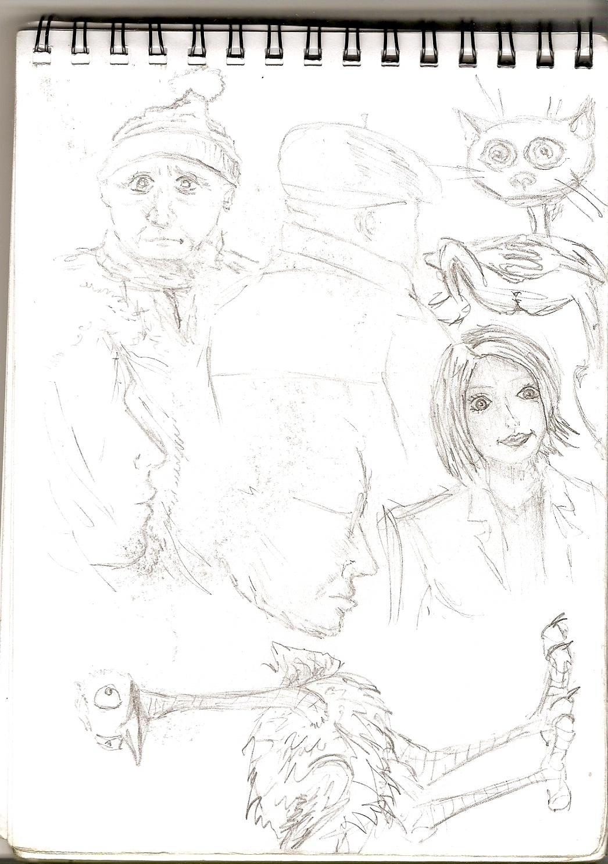 o cia dar vienas lapas iš troleibuso piešinių